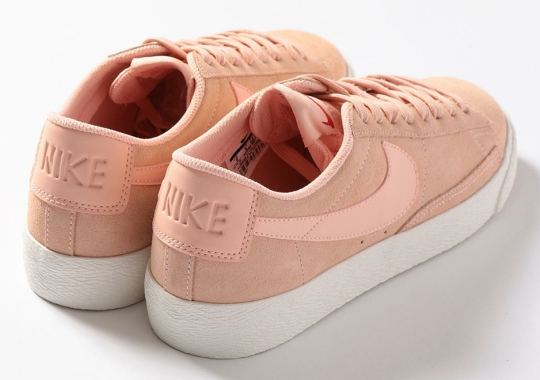 f37a22101d3 Tokyo Shop Beauty   Youth Updates The Nike Blazer Low In Light Pink Suede