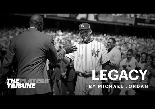 Michael Jordan Takes To The Player's Tribute To Congratulate Derek Jeter On Number Retirement