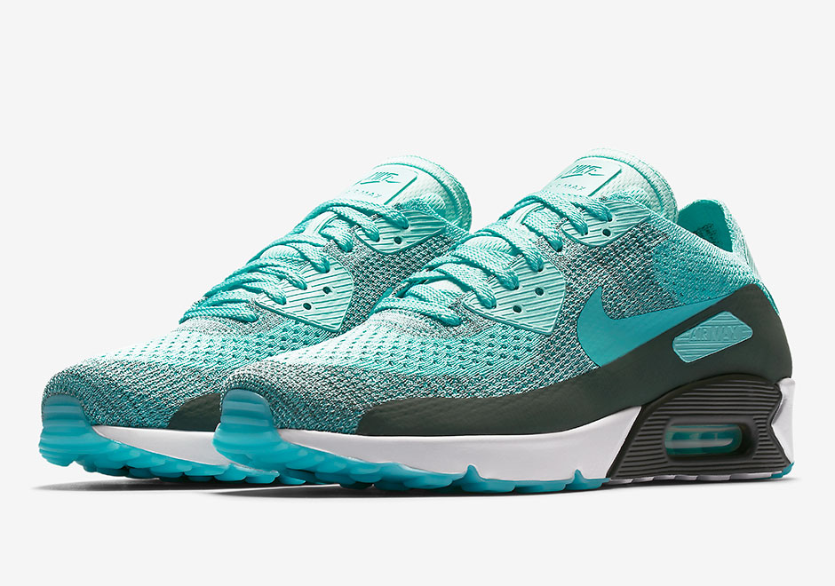 Nike Air Max 90 Ultra Flyknit Hyper Turquoise 875943 301