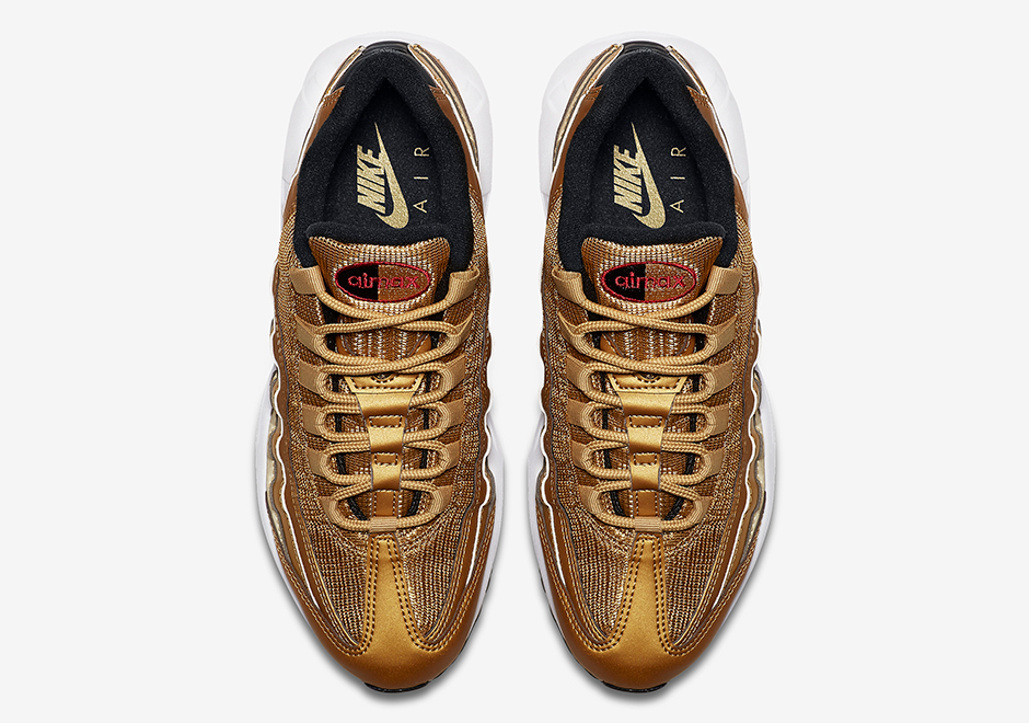 13902f26cd753 ... ireland nike air max 95 metallic gold release date may 18th 2017 160.  color metallic