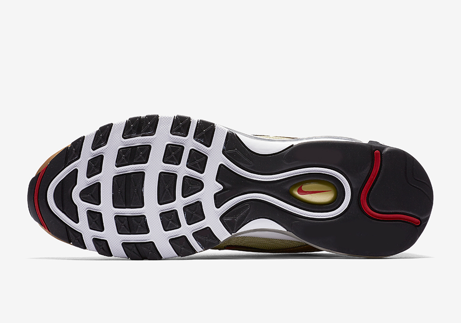 Nike Air Max 97 Hommes D'or Blanc dEgqOPhP81