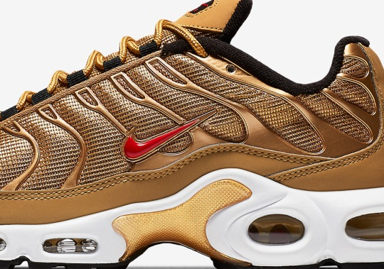 The Nike Air Max Plus Joins The Metallic Gold Club