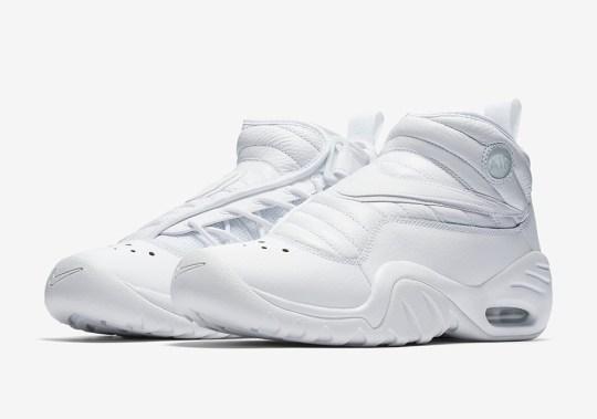 "The Nike Air Shake NDestrukt Is Releasing In ""Triple White"""