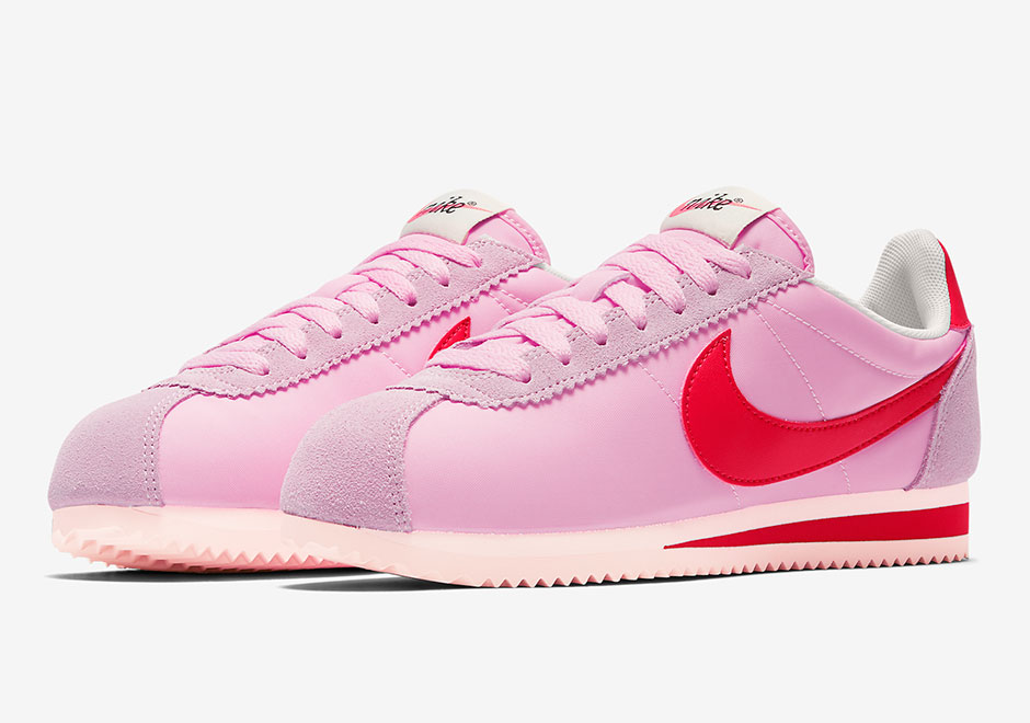 mens nike cortez red pink