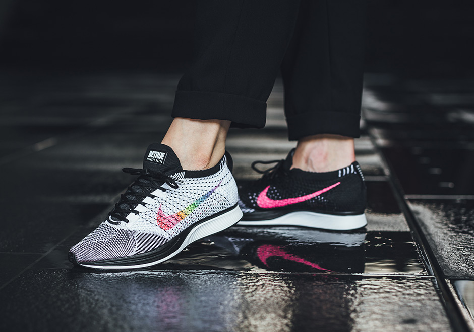 90423ab43c63a Nike Flyknit Racer Be True On Foot Preview