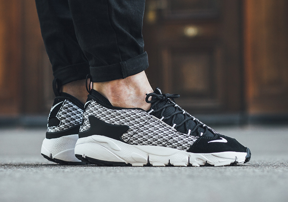 Running NIKE Air Footscape NM Jacquard BLACK WHITE BLACK