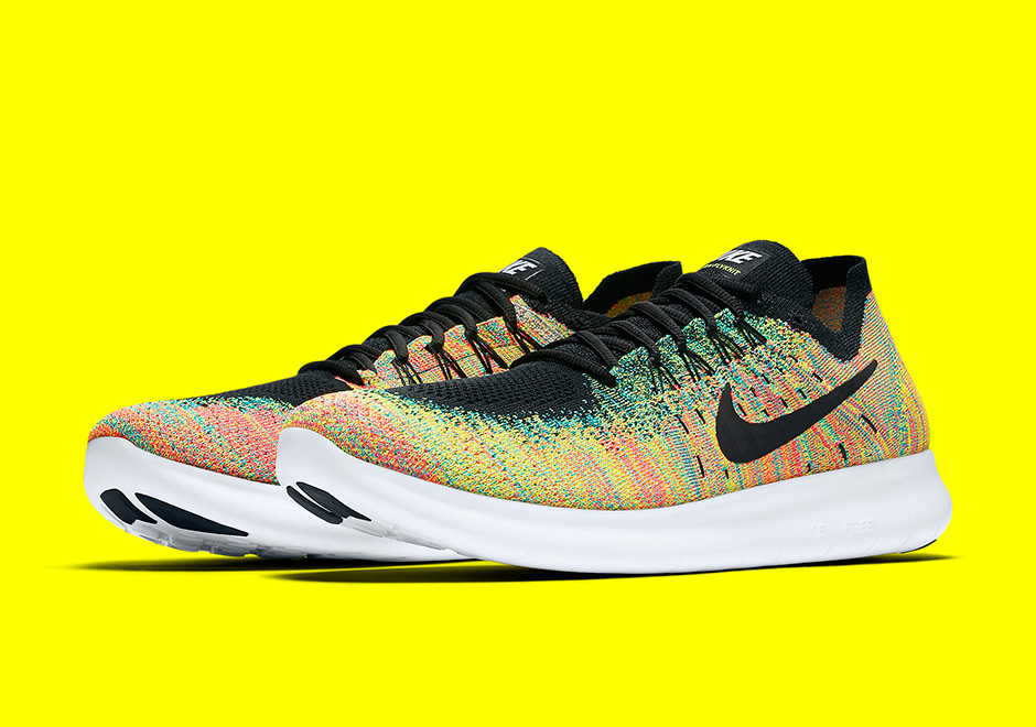 "Arriving with no fanfare like a ""Multi-Color"" Flyknit Racer but just as  nice is the all-new rainbow look on the latest Nike Free RN. 6e07ca13b17b"