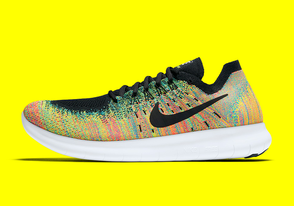 f77467ce5bf4 Nike Free RN Flyknit 2017. AVAILABLE ON Nike.com  120. Color  Multi-Color Blue  Lagoon Hot Punch Black