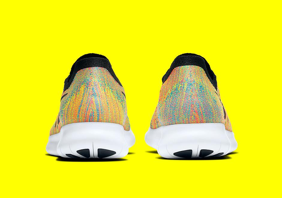 4b6461294fa Nike Free RN Flyknit Multicolor 880843-005