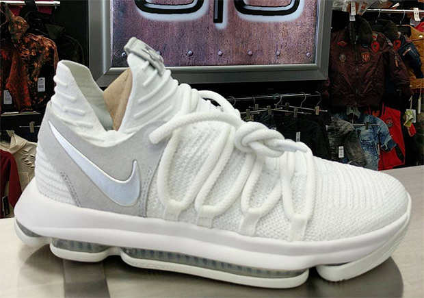 """free shipping f1a40 c9c10 ... 2017 The Nike KD 10 """"Still KD"""" releases on June KD 10 Bright Luster Nike  Zoom KD 10 EP Oreo Gold 897816 001 Kevin Durant Mens Basketball Shoes ..."""