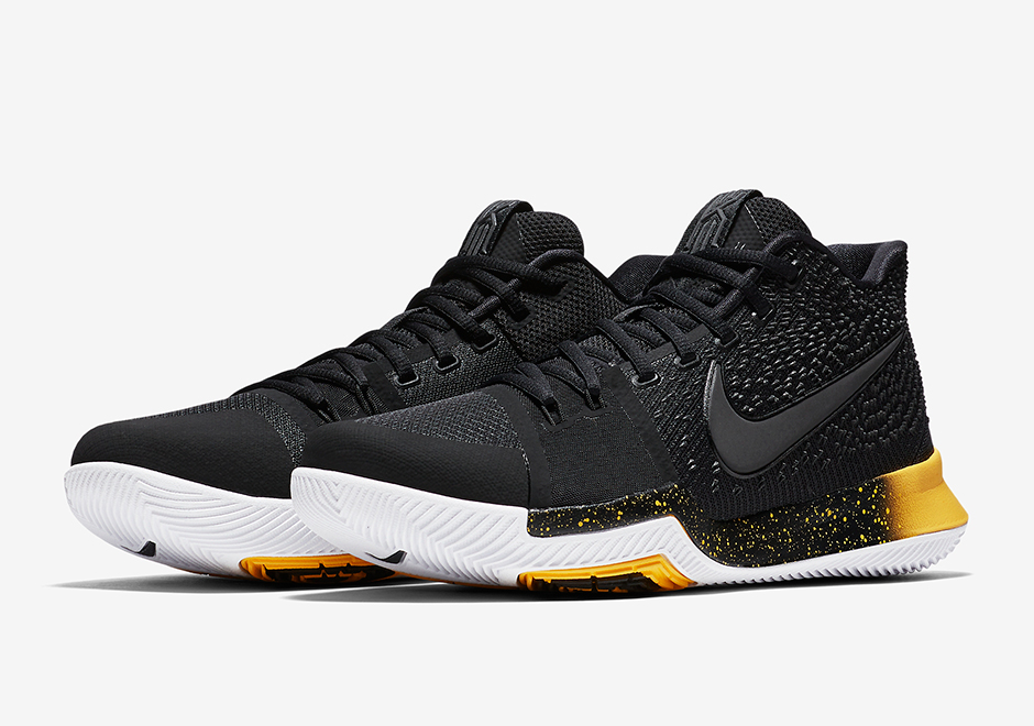 new arrival c835d a4a76 Nike Kyrie 3 Black Yellow 852396-901 | SneakerNews.com