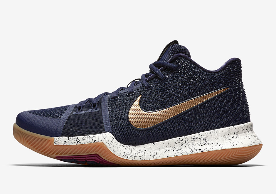 premium selection 833e4 efca3 Nike Kyrie 3. Global Release Date  June 3rd, 2017. North America Release  Date  July 21st, 2017  120. Color  Obsidian Metallic Gold-Summit White