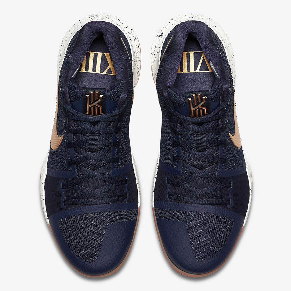 on sale 72224 99a84 Nike Kyrie 3 Obsidian Gold 852395-400 | SneakerNews.com