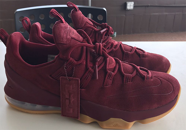 huge selection of 4ad1e 7bcf1 Nike LeBron 13 Low Burgundy Suede | SneakerNews.com
