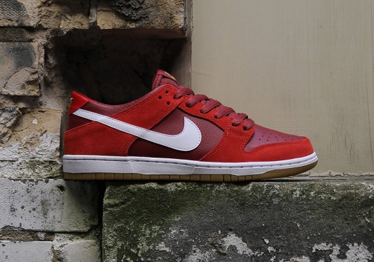 Nike SB Dunk Low Pro Releases In Red And Gum