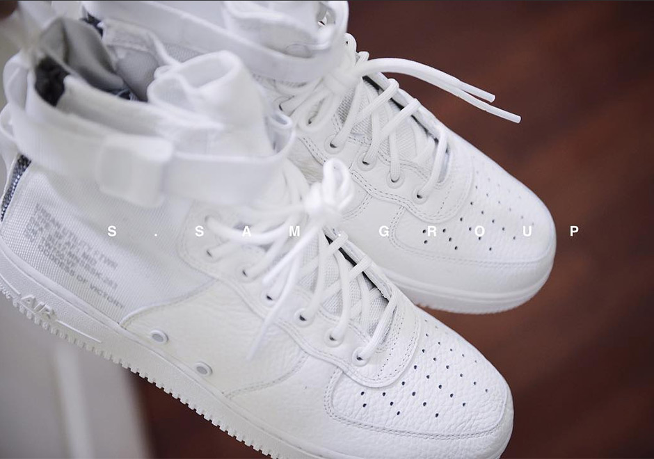 finest selection 79a7b b604d Nike SF-AF1 Mid Triple White Preview | SneakerNews.com