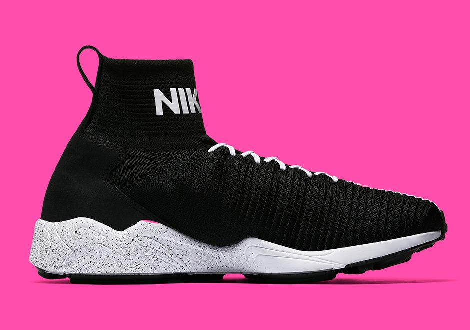 83a71306f9fab Nike Zoom Mercurial Flyknit IX Black White Pink