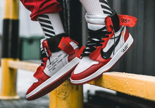 Here's What The OFF-WHITE x Air Jordan 1 Looks Like On-Feet