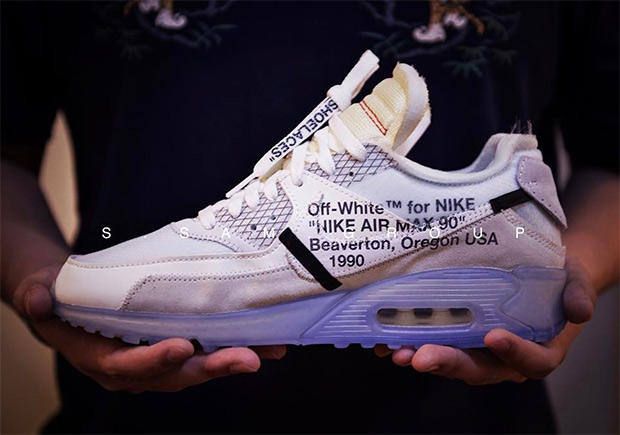 reputable site 877af 8bcc6 Best Look Yet At The OFF WHITE x Nike Air Max 90