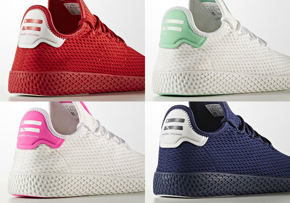 b4bc0d581 Four More Pharrell x adidas Tennis Hu Colorways Are Releasing Soon