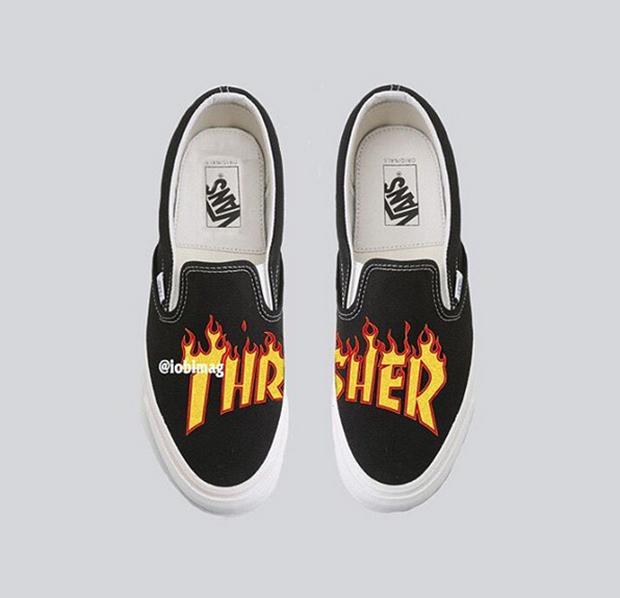 Thrasher Vans Flame Logo Collab Preview | SneakerNews com
