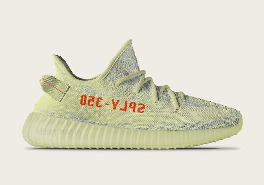 "Preview The adidas Yeezy Boost 350 v2 ""Semi-Frozen Yellow"" Releasing In December"