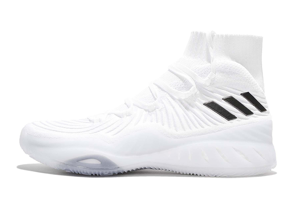 adidas Crazy Explosive 17 Primeknit Release Date: Summer 2017. AVAILABLE ON  eBay $150. Color: Light Grey/Solar Yellow