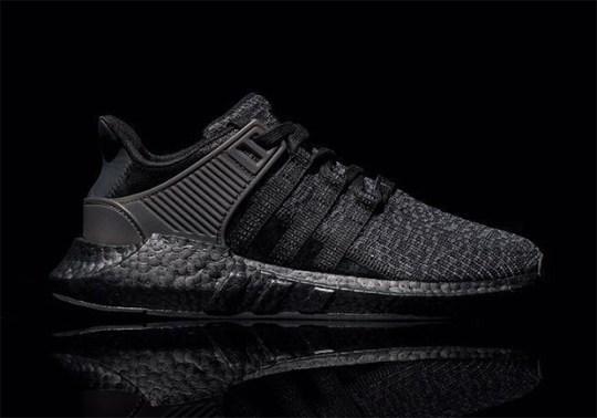 "adidas EQT 93/17 Boost ""Triple Black"" Coming Soon"