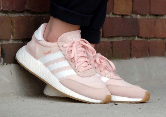 The adidas Iniki Boost Releases In Pink And Gum