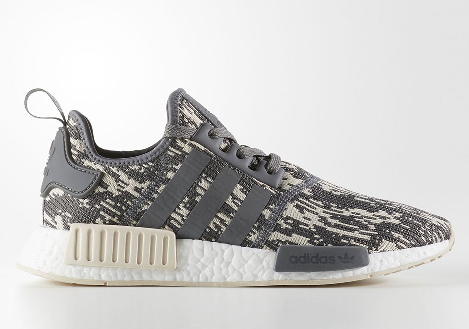 adidas nmd r1 grey linen glitch cq0858. Black Bedroom Furniture Sets. Home Design Ideas