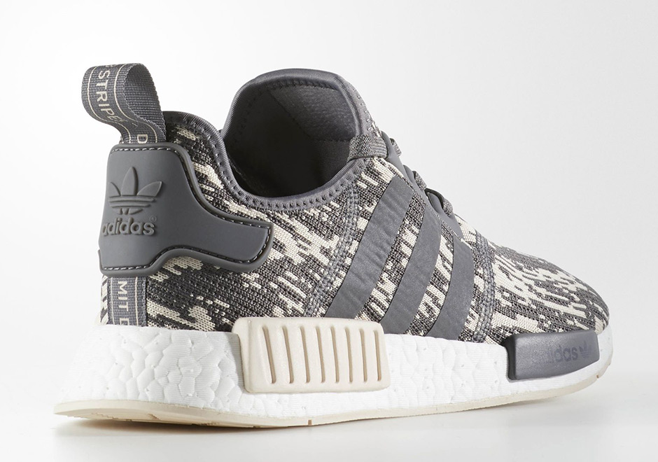 a385fde454c9a adidas NMD R1 Grey Linen Glitch CQ0858 | SneakerNews.com
