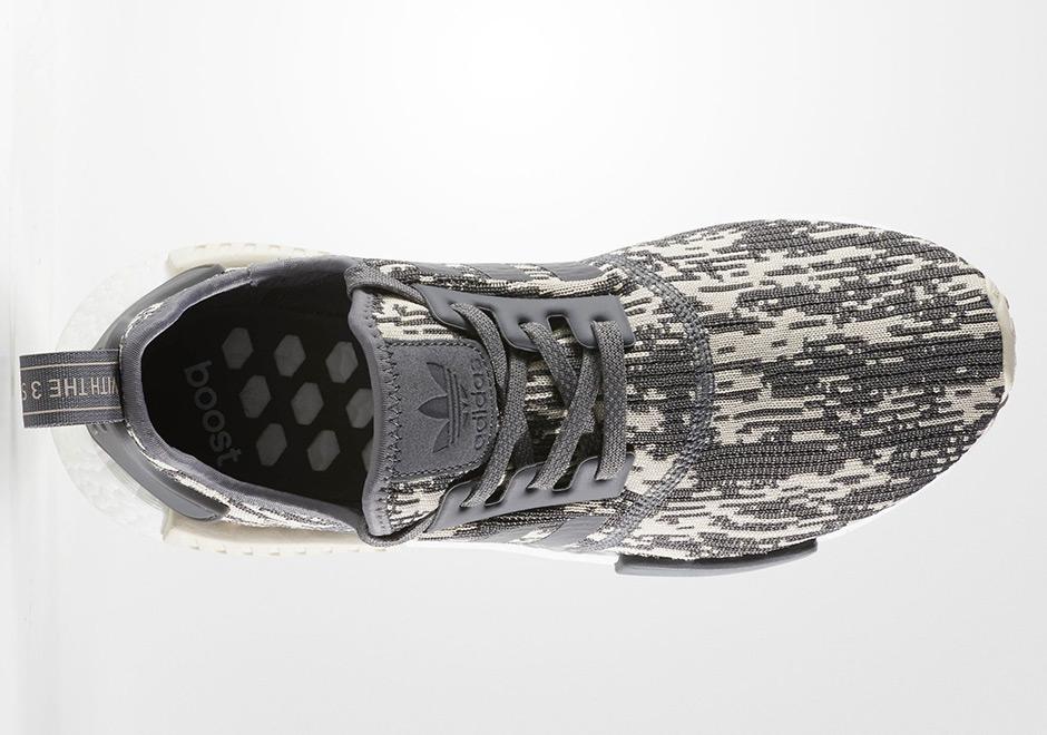 Glitch Gris Adidas Nmd R1 Primeknit fdFzA2E61
