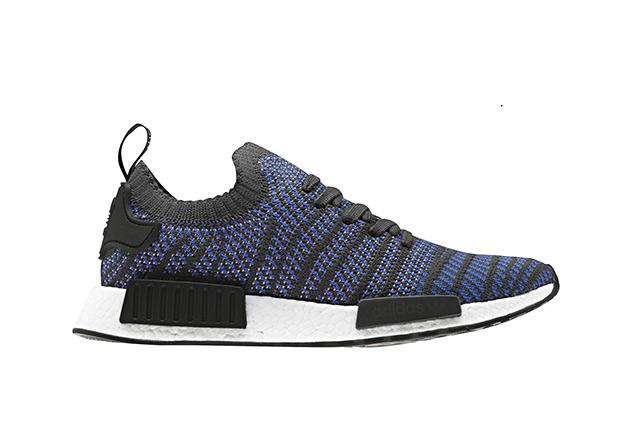 Adidas NmdR1 Black Blue Stripe Cq2388 Adidas Nmd Running Boost Copuon