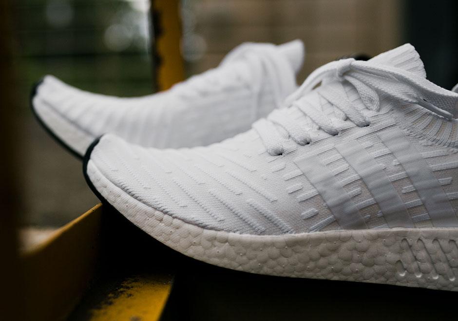 54f9e499856 adidas NMD R2 Primeknit White Black BY3015