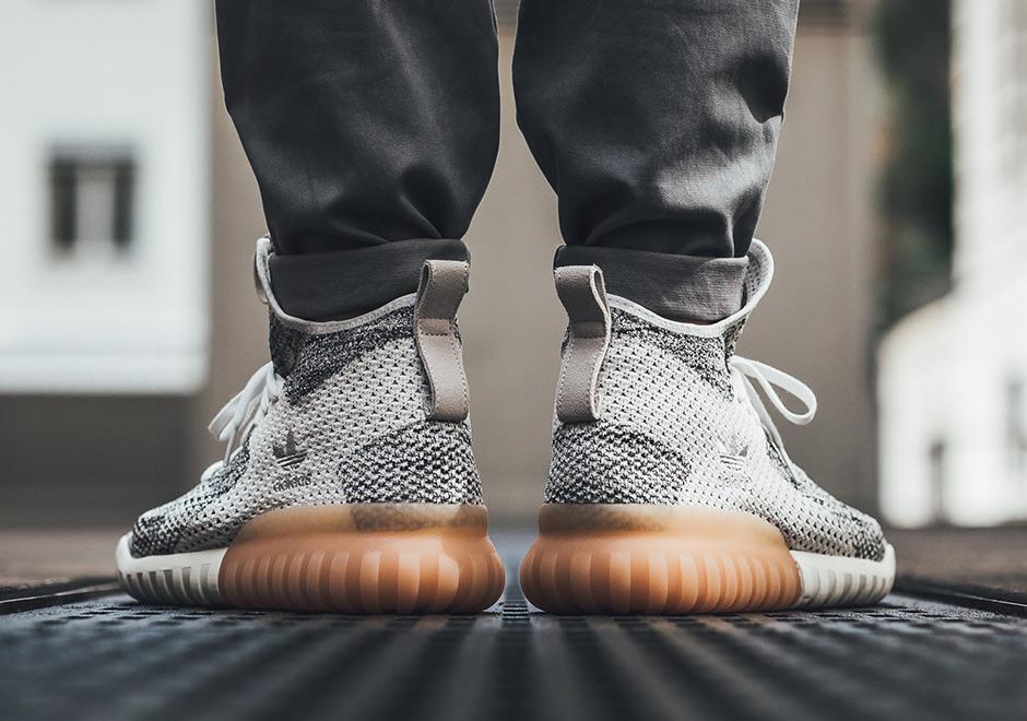 adidas tubular on feet primeknit