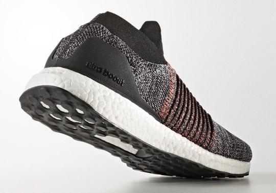 "adidas Ultra Boost Laceless Pairs ""Oreo"" With Burnt Orange"