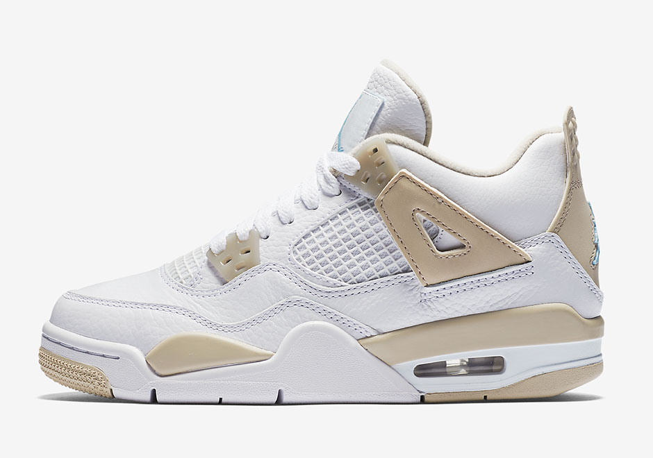 "72719462843a04 Air Jordan 4 ""Linen"" Returns This Week Exclusively For Girls"
