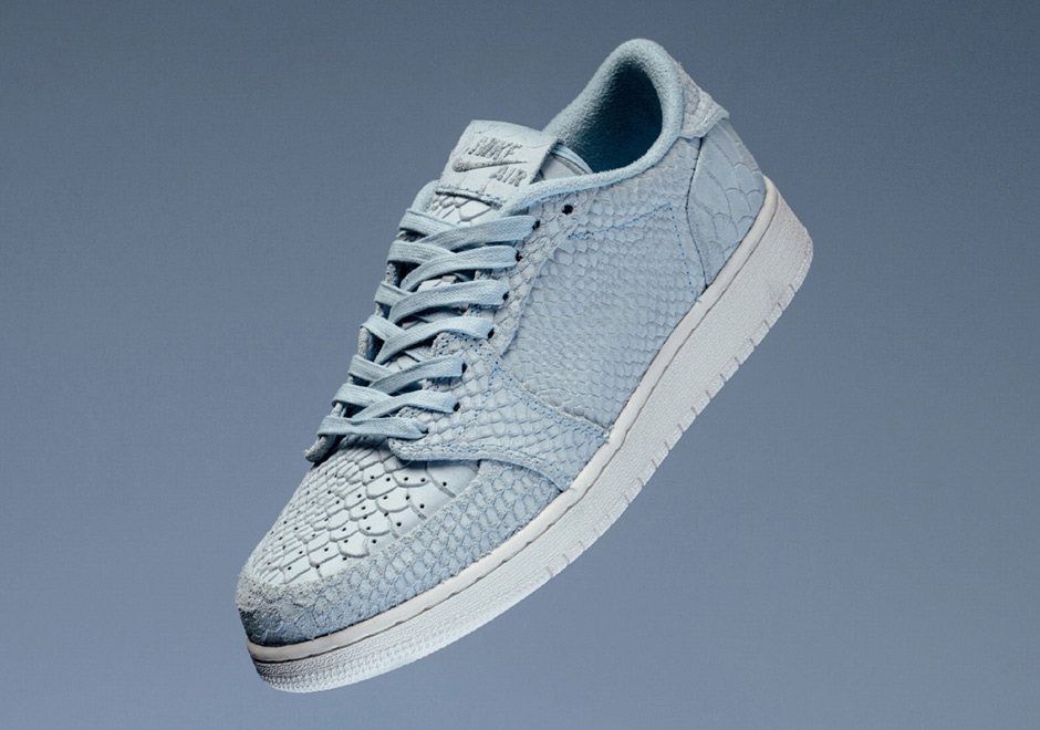 Air Jordan 1 Low Swooshless Returns In Ice Blue Python