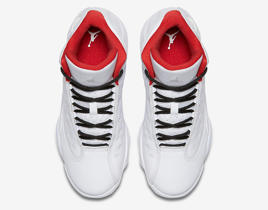 "online store b781b 6e02c Air Jordan 13 Retro GS ""History of Flight"" Release Date  July 22, 2017   140. Color  White Metallic Silver-University Red"