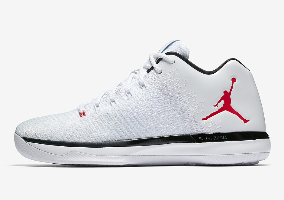 "a5c4fe52f47 Air Jordan 31 Low ""Chicago Bulls"" Release Date: June 30th, 2017 $160.  Color: White/University Red-Black"