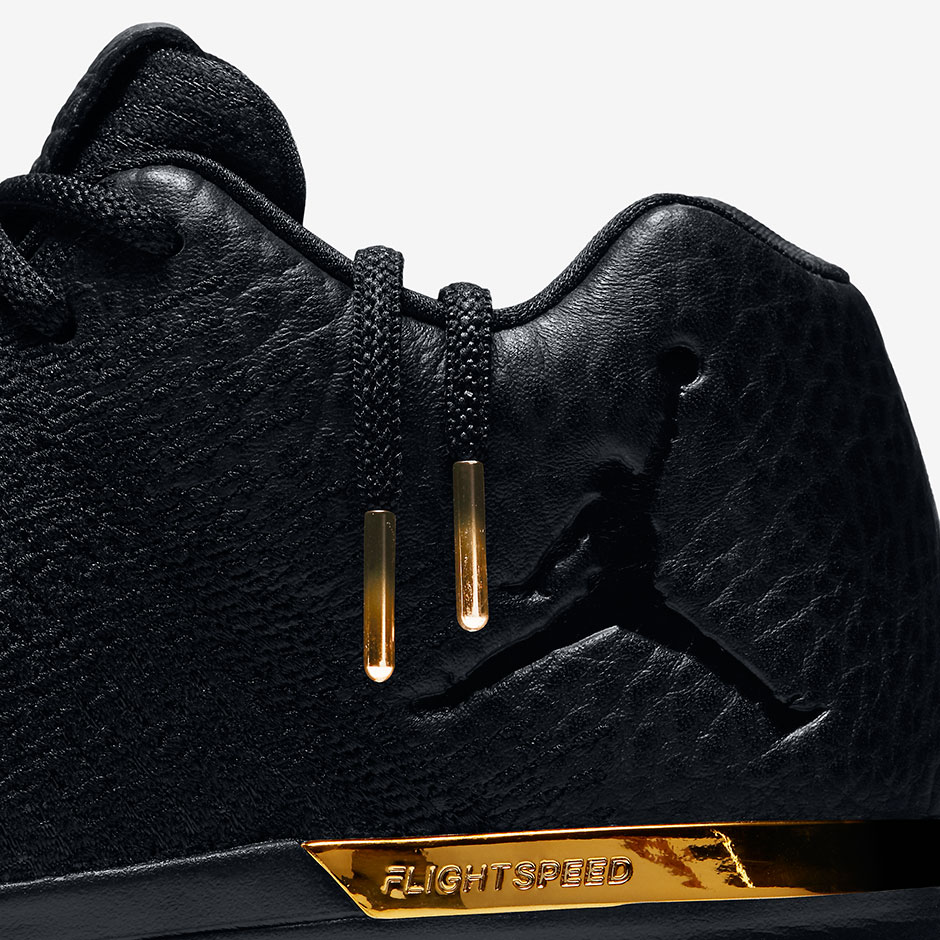 6dc9dd012d65b Black Tumbled Leather And Gold Detailing Hit The Air Jordan 31 Low