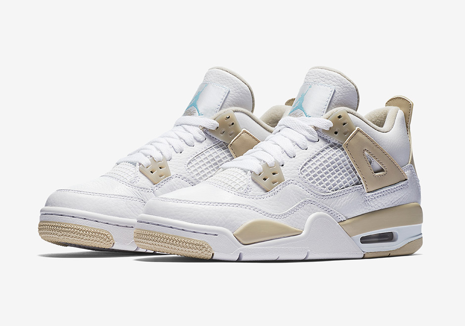 "444d247d4e838b Air Jordan 4 GS ""Linen"" Release Date  June 10th"