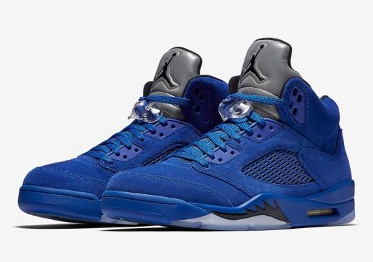 "Air Jordan 5 ""Blue Suede"" Releases On September 30th"