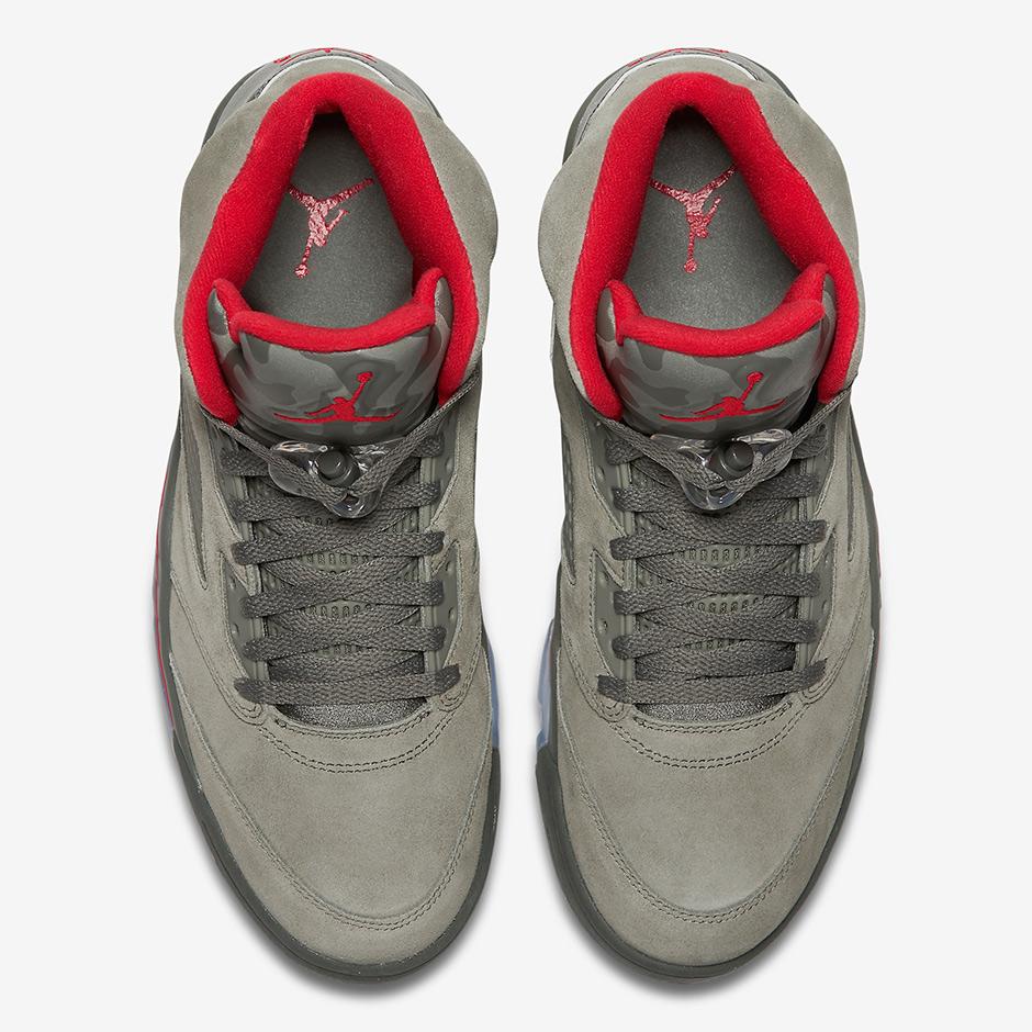 new style d62d5 f23ae ... 2017 Nike Air Jordan 5 V Retro Size 13. Camo Dark Stucco Fire Red 136027  .