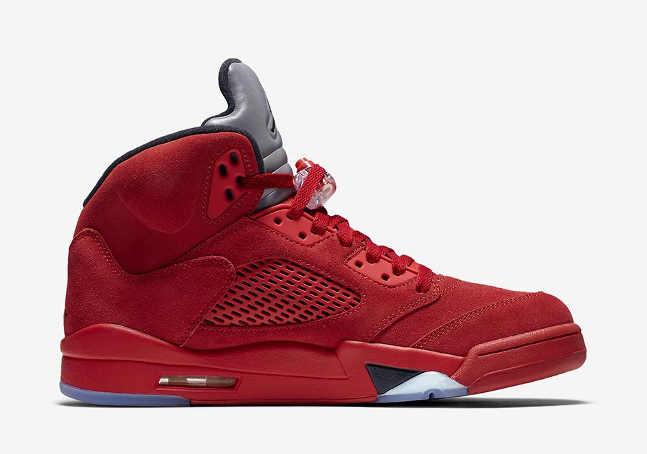 Nike Air Jordan 5 Rosso Volo Camoscio BA8sQR