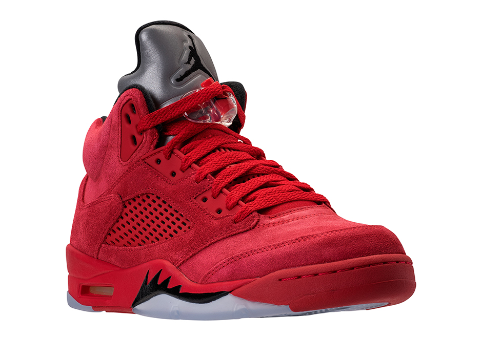 "This isn't the first time that we've seen the Jordan 5 don all-red. Sure,  this upcoming creation isn't the legendary red pair found in the ""Raging  Bull"" ..."