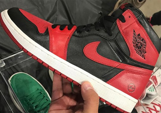 "fragment design x Air Jordan 1 ""Banned"" Confirmed To Be Fake"