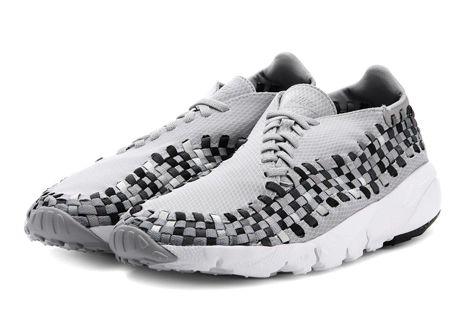 The Nike Air Footscape Woven NM goes greyscale for this latest colorway in  shades of grey, black, and white. An ideal construction for the shoe for  summer ...