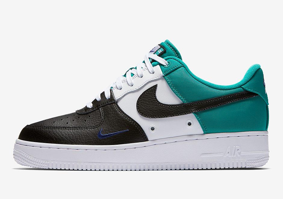 "brand new 64ca7 9d52f Nike Air Force 1 Mini Swoosh In ""Neptune Green"""
