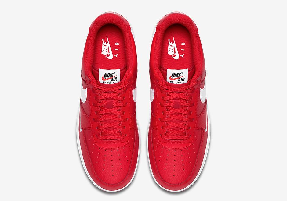 2017 NIKE AIR Force One Mini Swoosh University Red Low